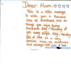 THAT is my child's handing writing. You will also find a sample of my child's hand writing on this blog, when my child is in distress.  I do also have loads of other samples of my child's handwriting. Whatever game Northamptonshire local body is playing, my child and I are not party to it.